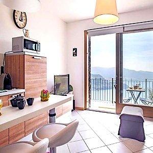 Das Bild zeigt eine Ferienwohnung am Lago d'Iseo.