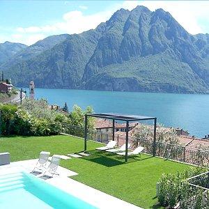 Bild zeigt eine Ferienwohnung am Iseosee.